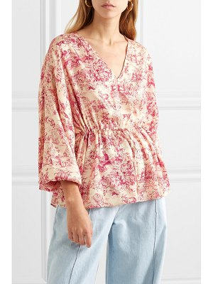 Elizabeth and James angela printed twill blouse