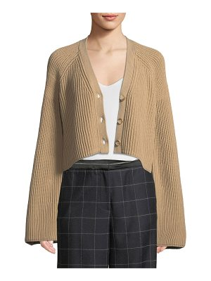 ELIZABETH AND JAMES Cabot Bell-Sleeve Knit Cropped Cardigan