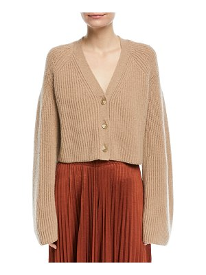 Elizabeth and James Cabot Button-Front Bell-Sleeve Cashmere Cardigan