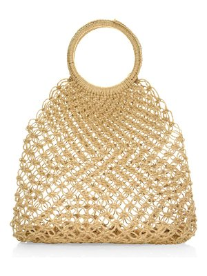 Elizabeth and James medium alfonso straw tote bag