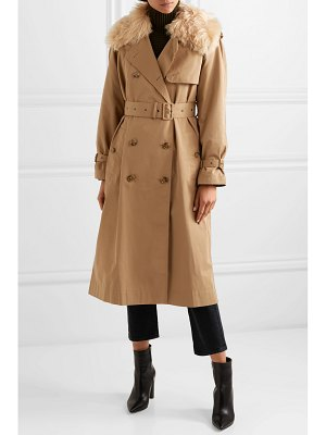Elizabeth and James stratford shearling-trimmed cotton-blend twill trench coat