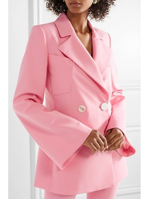 ELLERY calling card oversized double-breasted crepe blazer
