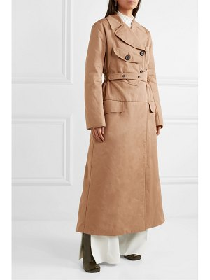 ELLERY overload belted padded cotton-twill coat