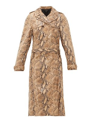 ELLERY spectrum faux-snakeskin trench coat