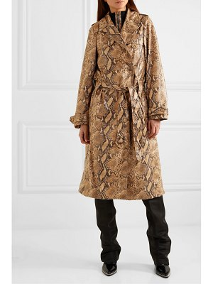 ELLERY spectrum snake-effect faux leather trench coat