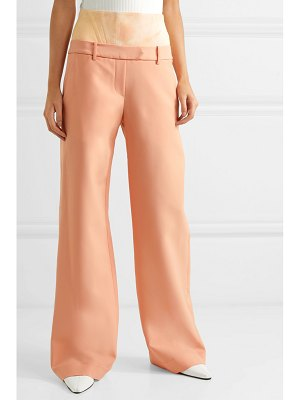 ELLERY stretch jersey-paneled crepe flared pants