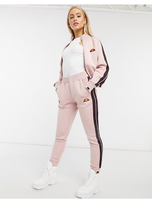 Ellesse neoprene jogger in pink two-piece