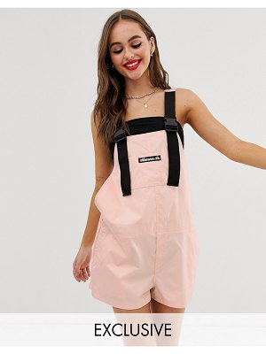 Ellesse recycled short overalls with buckle straps