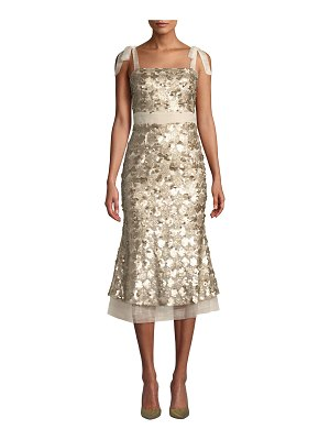 ELLIATT Angelina Sequin Sleeveless Midi Cocktail Dress