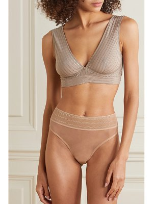 else ziggy embroidered stretch-jersey soft-cup bra
