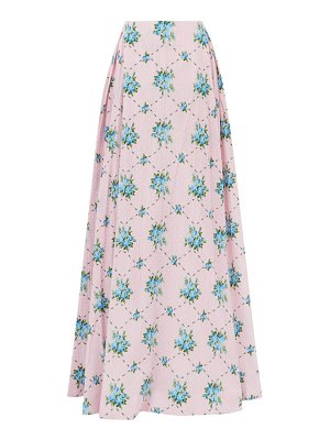 Emilia Wickstead constancia rose-print cotton-bibiano maxi skirt