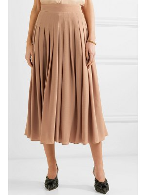 Emilia Wickstead fred pleated crepe midi skirt