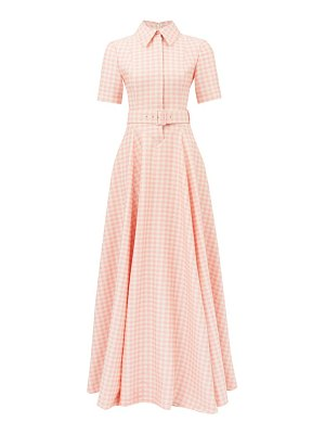 Emilia Wickstead josie belted gingham shirt dress