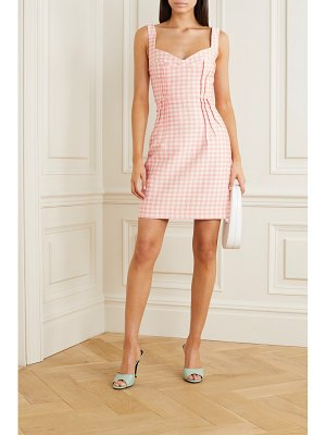 Emilia Wickstead jude gingham cloqué mini dress