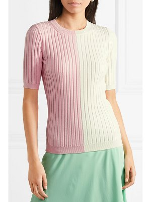 Emilia Wickstead naomi two-tone ribbed wool sweater