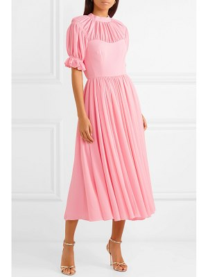 Emilia Wickstead philly pleated cloqué midi dress
