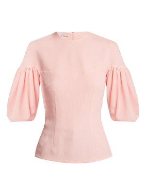 Emilia Wickstead sybil balloon sleeve crepe blouse