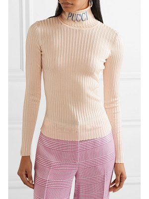 Emilio Pucci intarsia ribbed-knit turtleneck sweater
