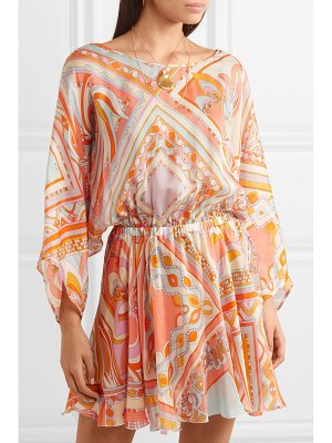 Emilio Pucci printed silk-chiffon mini dress