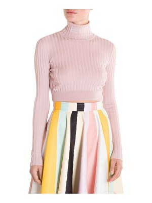Emilio Pucci rib cropped turtleneck sweater