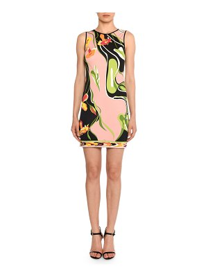 Emilio Pucci Water-Lily Print Sleeveless Sheath Dress