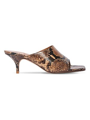 EMME PARSONS 50mm sabine snake print leather sandals