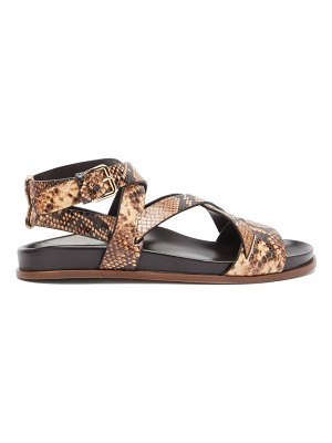 EMME PARSONS bodhi python-print leather crossover sandals