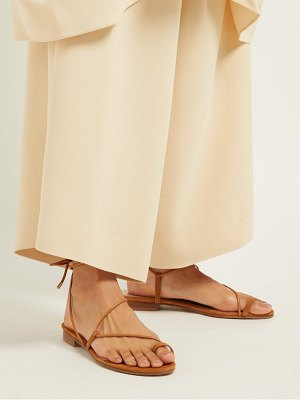 EMME PARSONS susan wrap around suede sandals