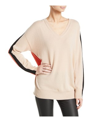 Emporio Armani Cashmere Colorblocked V-Neck Sweater