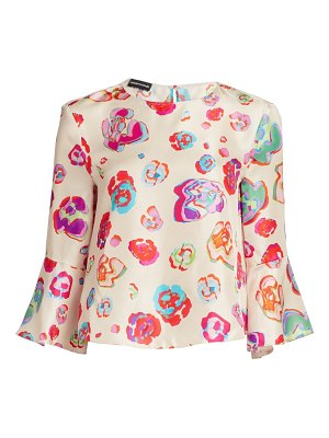 Emporio Armani floral mulberry silk blouse