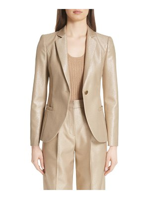 Emporio Armani metallic one button jacket