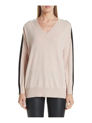 Emporio Armani stripe v-neck cashmere sweater