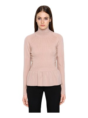 Emporio Armani Wool sweater w/ ruffled hem