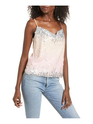 Endless Rose colorblock sequin camisole top