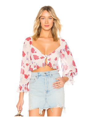 Endless Rose Darling Poppy Front Tie Crop Top