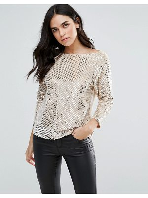 Endless Rose heavily embellished long sleeve top