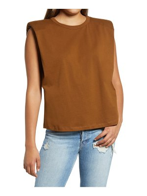 Endless Rose padded shoulder t-shirt