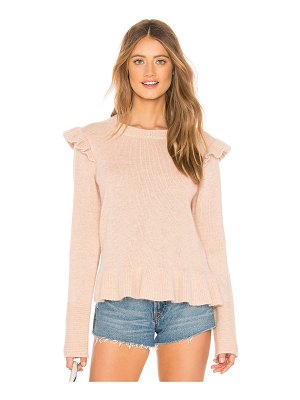 Endless Rose Ruffle Detail Angora Sweater