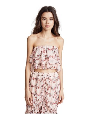 Endless Rose ruffled fence crop top