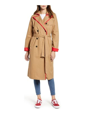 English Factory contrast binding trench coat