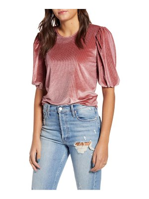 English Factory corduroy puff sleeve top