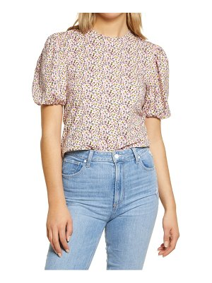 English Factory floral puff sleeve t-shirt