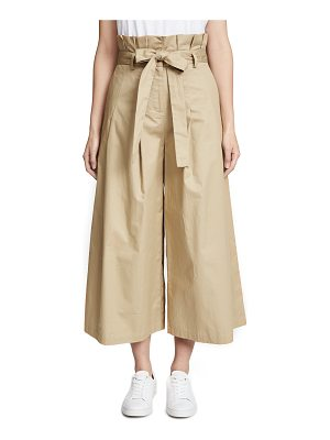 English Factory pleated paper bag pants