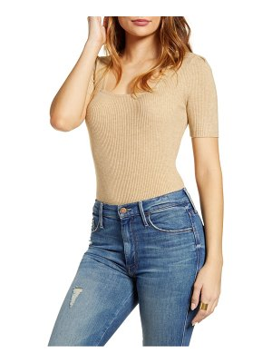 English Factory puff shoulder knit top