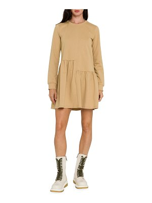 English Factory Unbalanced Seam Long-Sleeve Knit Dress