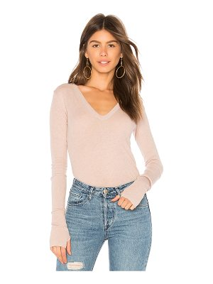 Enza Costa Cashmere Cuffed Sweater