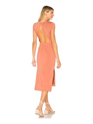 ENZA COSTA Jersey Open Back Midi Dress