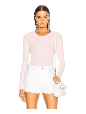 Enza Costa Rib Fitted Long Sleeve Crew Tee