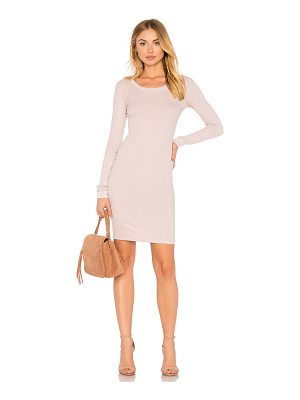 Enza Costa Rib Long Sleeve Dress