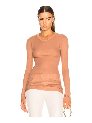 ENZA COSTA Rib Long Sleeve Tee